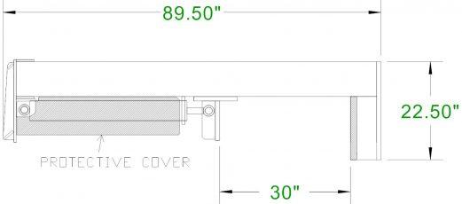 30 ton inverted log splitter spec