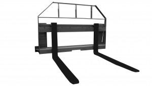 compact tractor fork and frame