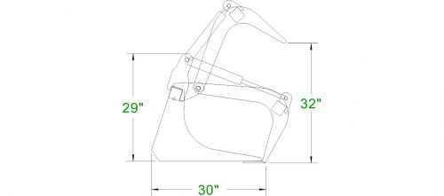 compact tractor grapple bucket_dxf