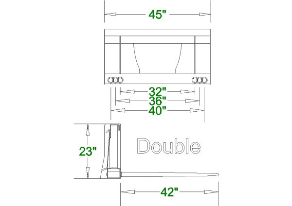 double hay spear spec