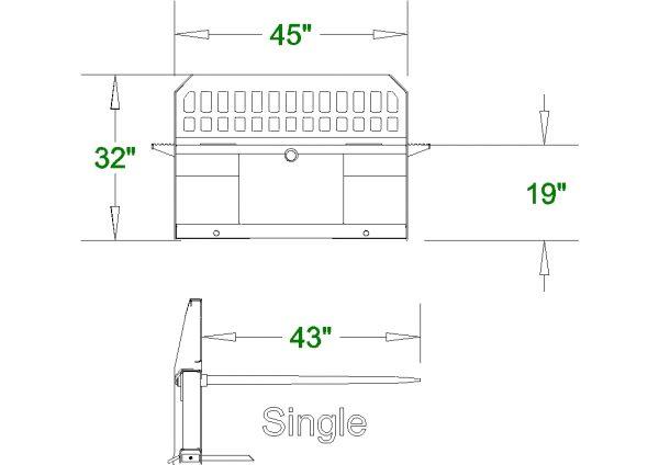 high back single hay spear spec